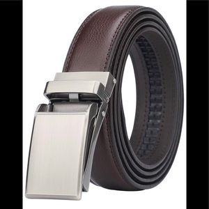 "Men's brown leather ratchet belt sizes 28 to 44""🆕"